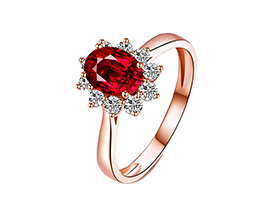 Anillo de compromiso de Oro Rosa